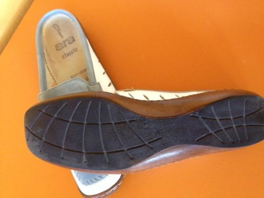 Ara All Leather Blue and white Mules