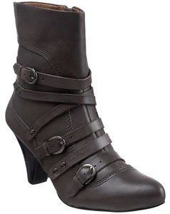 Corso Como Leather Pointed Toe Strappy Comfortable Grey Boots