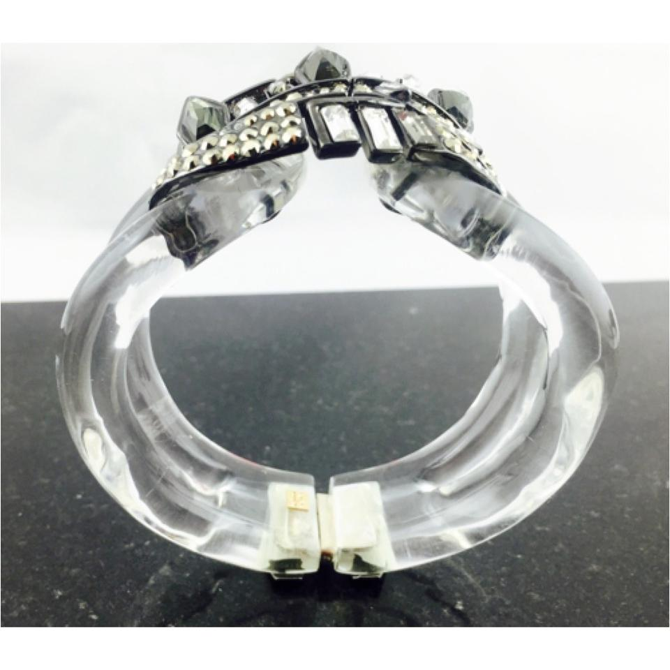 Alexis Bittar Alexis Bittar Cubist Banded Hinged Large Cuff Bracelet  New