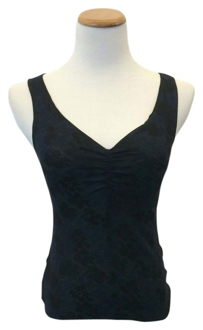 Armani Collezioni Floral Top Black and Navy