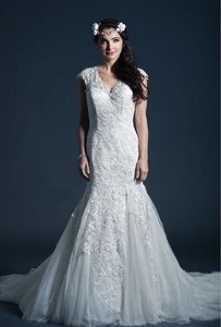 Kari Chang Eternal Kari Chang Eternal Kcw1575 Lace Cap Sleeve Trumpet Wedding Dress