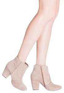 StyleMint Taupe Suede Boots