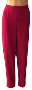 City Girl by Nancy Bolen Straight Pants Red