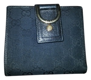 Gucci GUCCI Canvas (With coin purse) bi-fold wallet W hook GG pattern