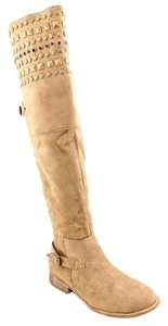 MIA Boot Studded Dark Tan Boots