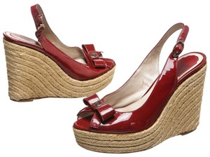 Dior Red Wedges