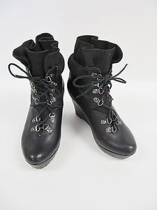 80%20 Womens 8020 Leather Black Boots