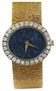 Piaget Piaget Lady's Yellow Gold Black Opal Dial Wristwatch
