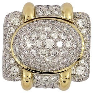 Diamond Gold Platinum Dome Ring