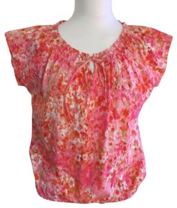 Jones New York Top Pink Floral