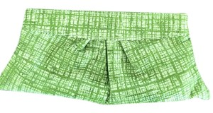 Lauren Merkin Green and White Clutch