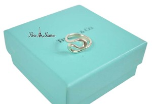 Tiffany & Co. Authentic Tiffany & Co Sterling Silver Wave Ring sz 5