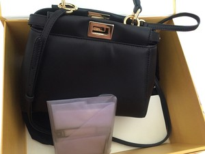 Fendi Minipeekaboo Lamb Leather Limited Cross Body Bag