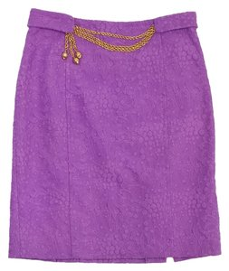 MILLY Orchid Jacquard Skirt