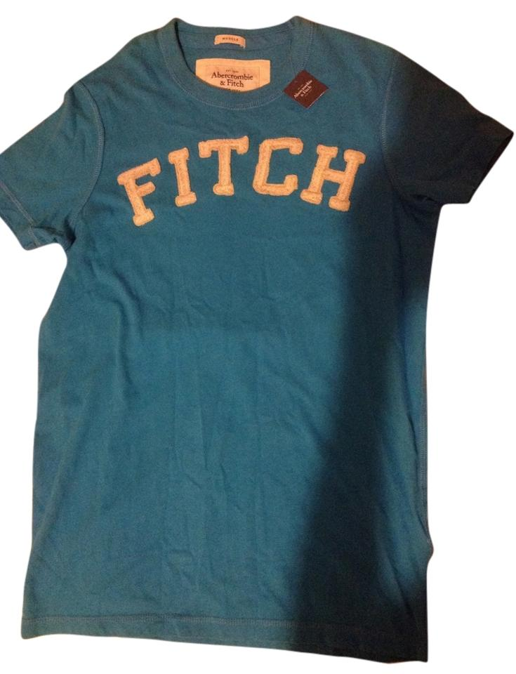 4cc61739 Abercrombie & Fitch New with Tag Men Blue Small Tee Shirt Size 4 (S ...