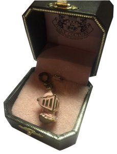 Juicy Couture NEW! JUICY COUTURE GOLD & PINK RARE KNIGHT HELMET CHARM!!