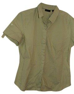 New York & Company Button Down Shirt Celery