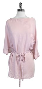 Stella & Jamie Blush Silk Short Sleeve Top