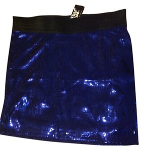Planet Gold Blue Sequin Medium Skirt