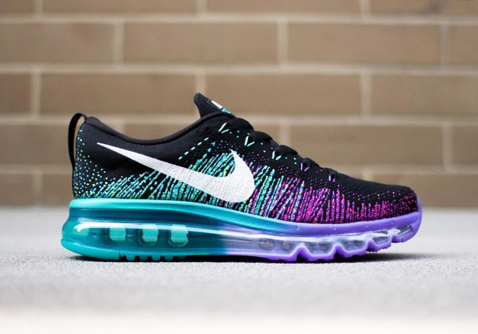 new products d0c98 9ae2b Nike Air Max Flyknit 2014 In Box - Black Venom Purple Green - Women's  Athletic Shoes Now Sneakers Size US 7 24% off retail