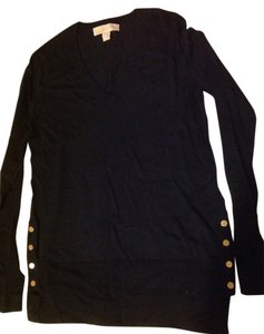 Michael Kors Mk Black V Neck Xs Sweater
