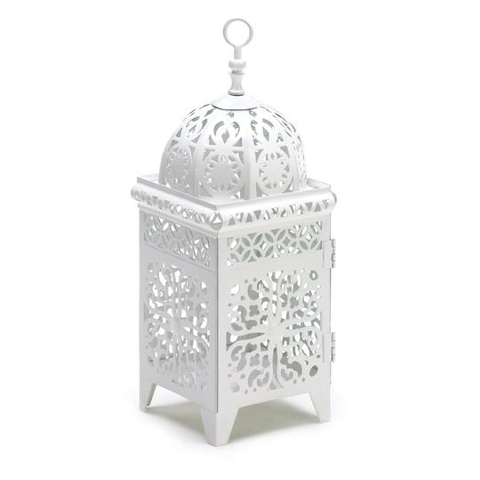 White 10 Moroccan Lanterns Filigree Candle Holders Free Shipping Reception Decoration