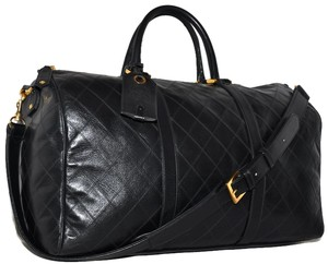 Chanel Paris Black Travel Bag
