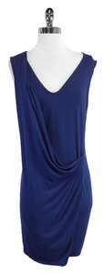 Theory short dress Navy Draped Sleeveless on Tradesy