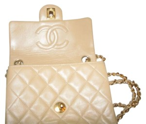 Chanel Quilted Leather Beige Clutch