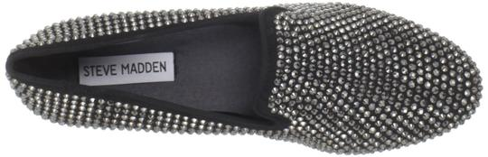 Steve Madden Beaded Black/Silver Flats