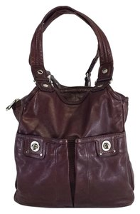 Marc by Marc Jacobs Eggplant Leather Shoulder Bag
