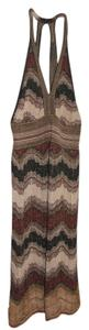 Missoni short dress Brown Metallic on Tradesy