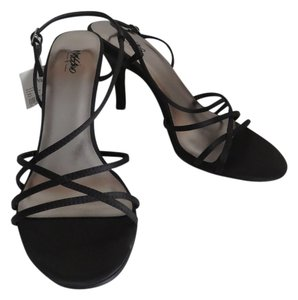 Mossimo Supply Co. Strappy Open Toe Black Sandals