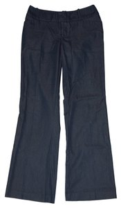 Mossimo Supply Co. Slacks Dress Stretchy Comfortable Navy Trouser Pants Looks like dark Denim