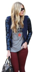 Lovers + Friends Sequin Midnight Blue/Navy Blazer