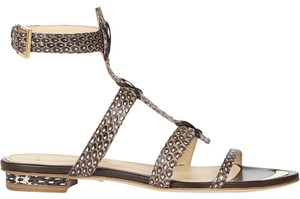 Maiyet Gladiator Gold Neutral/Natural Snakeskin Sandals