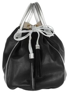 Meredith Wendell Satchel in Black/Silver