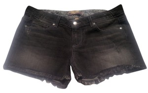 Paige Cut Off Shorts Dark Gray