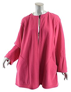 Emanuel Ungaro Parallele Vintage Wool Blend Car Coat Fuschia Jacket