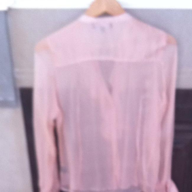Sanctuary Clothing Button Down Sheer Work Top Blush