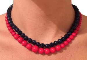 Other Blue and Red Beaded Necklaces