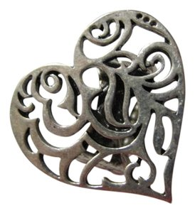 Other SILVER TONE HEART SHAPED RING