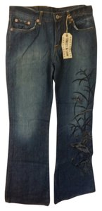 Lucky Brand Boho Embroidered Flare Leg Jeans