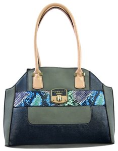 Guess 14 1/2 W X 11 H X 5 D Inches Tote in blue multi