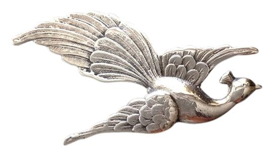 Preload https://item1.tradesy.com/images/silver-sterling-peacock-pin-709615-0-0.jpg?width=440&height=440