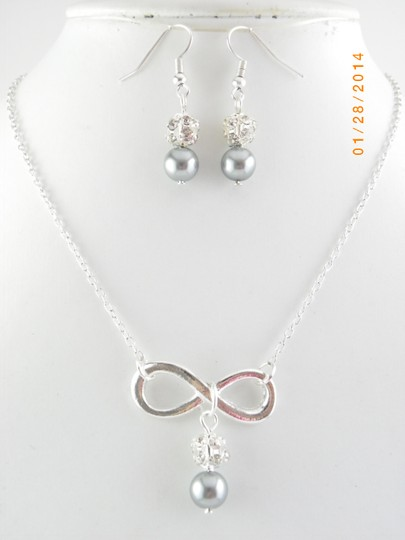 Grey Sale Of 6 Infinity Bridesmaid Necklace and Earrings 6 Infinity Charm Necklace Of 6 Bridesmaid Necklace Infinity Jewelry Set
