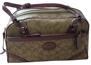 Coach Satchel in SV/light Khaki/rose