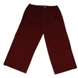 CAbi Capris dark red
