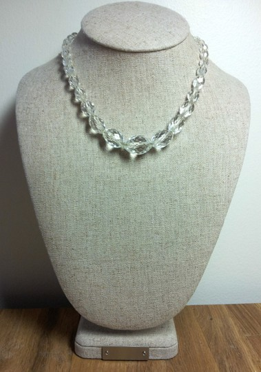 Clear Art Deco Style Crystal Statement Necklace