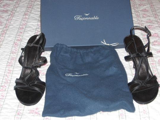 Faonnable Dress Like New Size 8.5 3 Inch Heels Black Sandals